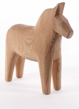 unpainted dala horse